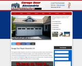 Commercial garage door Alexandria