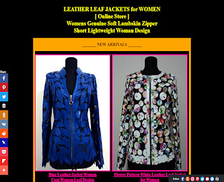 Women Leather Leaf Jacket