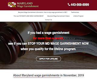 Maryland Wage Garnishments