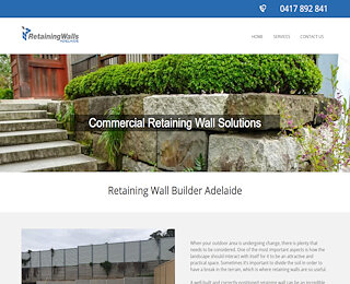 Commercial retaining walls Adelaide