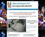 Sidewalk Repairs Nyc