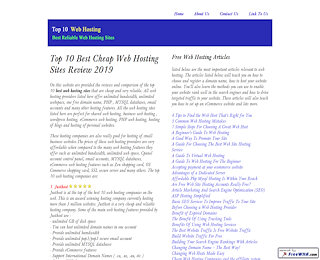 Top 10 Web Hosting Sites