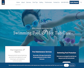 Commercial pool and spa services white rock