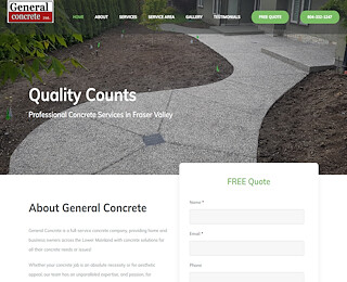 concrete contractors Surrey