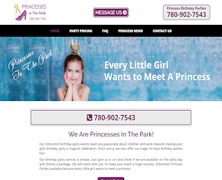 Princess Party Company Edmonton