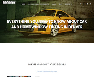Home Window Tinting Denver